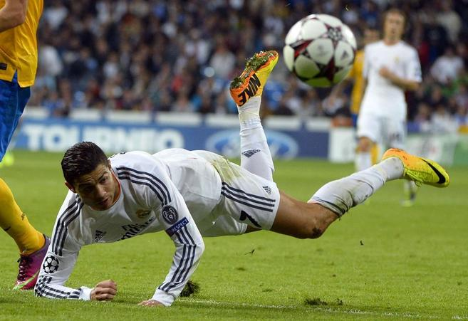Cristiano Ronaldo, durante el partido ante la Juventus.