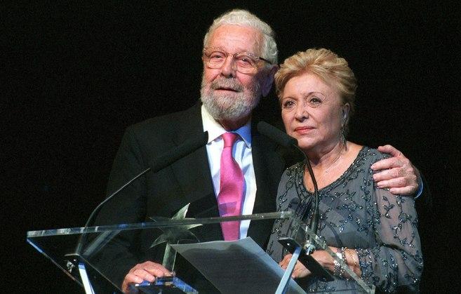 Luis García Berlanga y Amparo Soler Leal, en 1999.