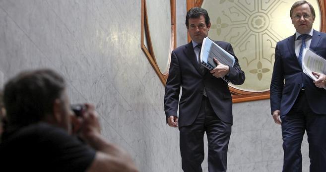 José Císcar y Juan Carlos Moragues, antes de la rueda de prensa del...