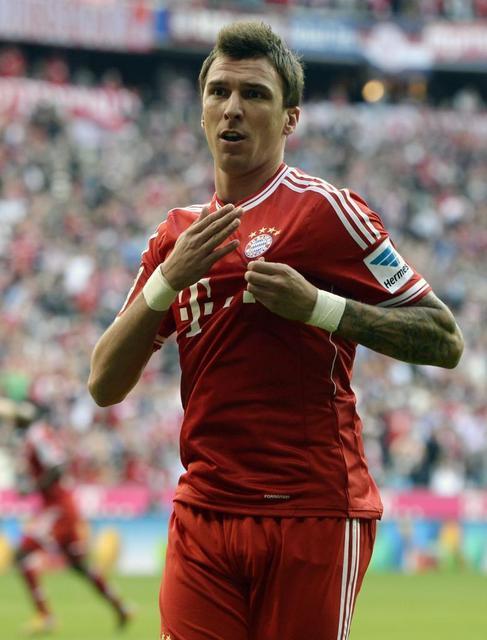 Mandzukic celebra uno de los goles al Hertha.