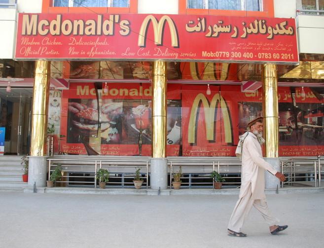 El primer McDonald's de Kabul, en el distrito tres de la ciudad