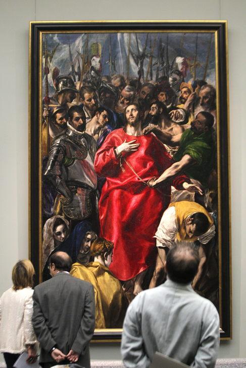 'El Expolio ' de El Greco, exhibido en el Prado después de...