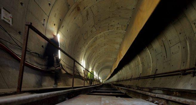 El flamante túnel  de Marmaray.