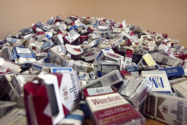 Cajetillas de tabaco vacías.