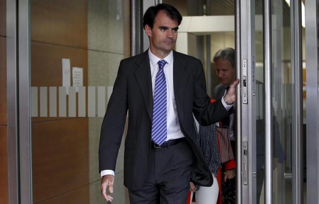 Pablo Ruz sale de la Audiencia Nacional.