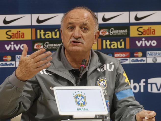 El seleccionador de Brasil, Luiz Filipe Scolari.