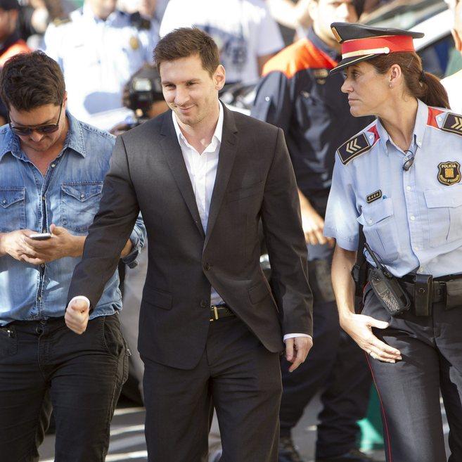 Leo Messi, cuando compareció ante el juez de Gavà como imputado.