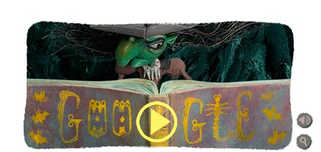 La bruja del doodle de Google