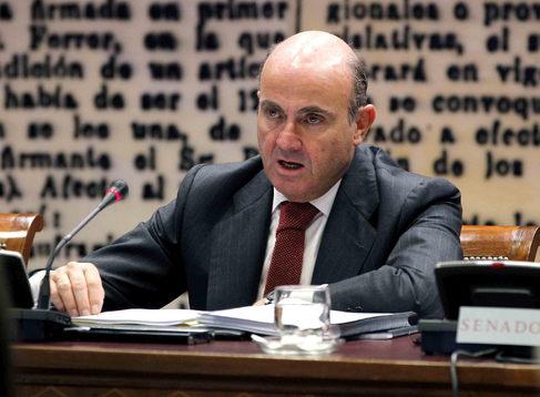 Luis de Guindos, ministro de Economía, en el Senado.