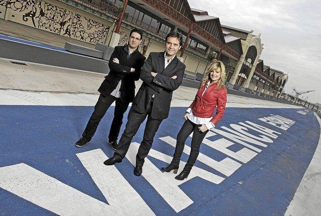 El equipo de Canal 9 para las retransmisiones de la Fórmula 1, con...