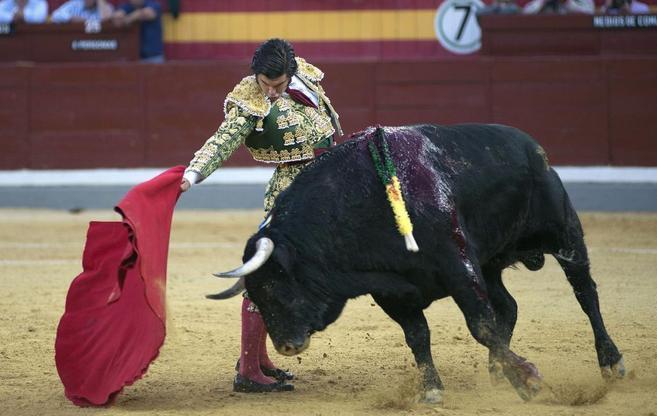 El diestro Morante de la Puebla durante la Feria de San Lucas de...