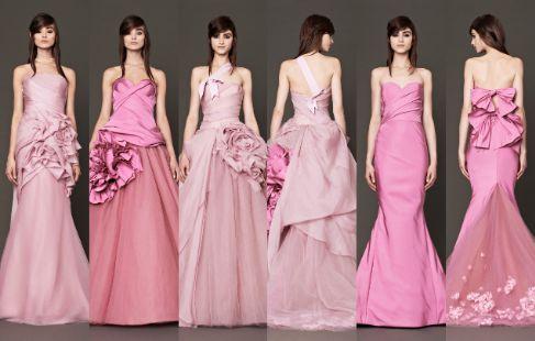 La colección de Vera Wang al completo, en escala de rosas, pasteles y...