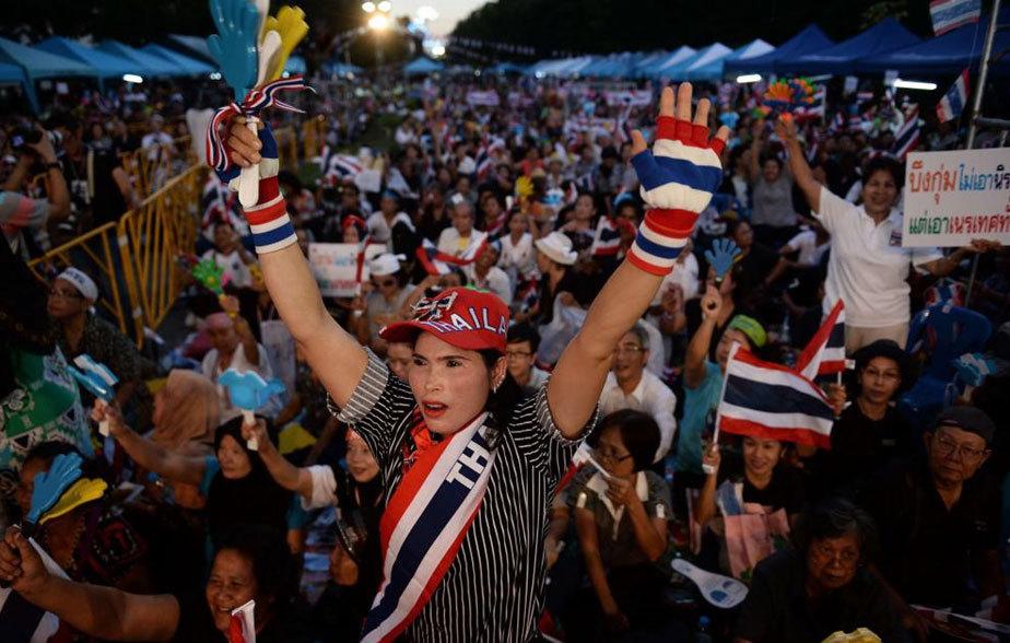 Protestas en la capital del país contra la amnistía.