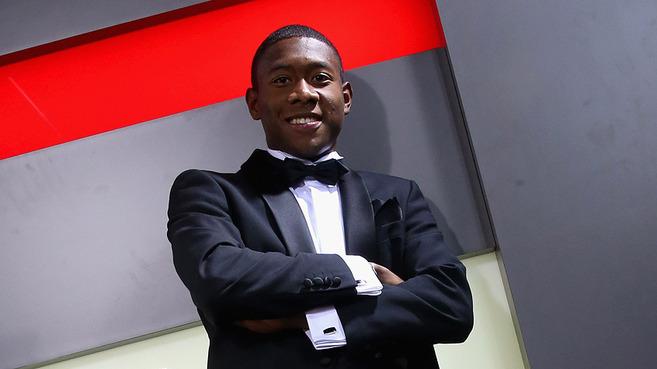David Alaba, tras ser premiado como mejor deportista del año en...