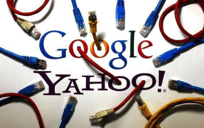 Imagen que muestra los logos de los dos gigantes de internet.
