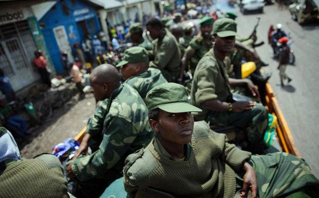 Soldados del M23, el año pasado en Goma.