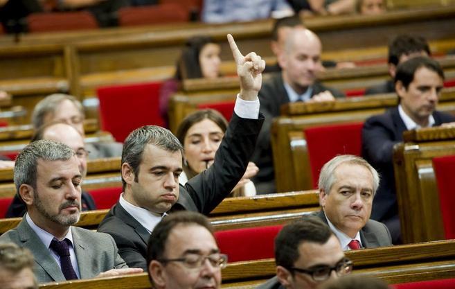 Barcelona, 24.10.2013 Pleno del Parlament de Catalunya. Collboni, L...