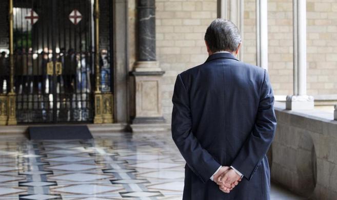 El presidente de la Generalitat, Artur Mas, esperando la llegada de...