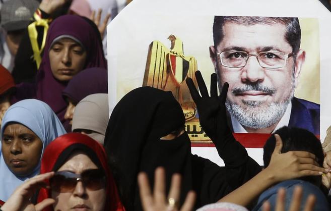 Seguidores de Mursi en una protesta el pasado 1 de noviembre.