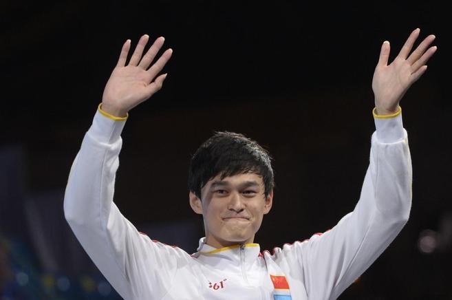 Yang Sun celebra un triunfo.