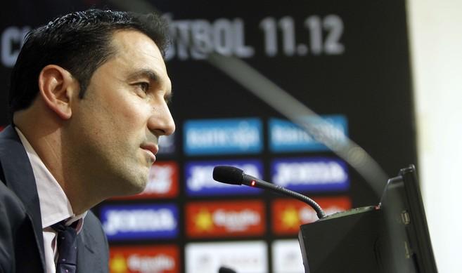 El hasta ahora director deportivo del Valencia, Braulio Vázquez.