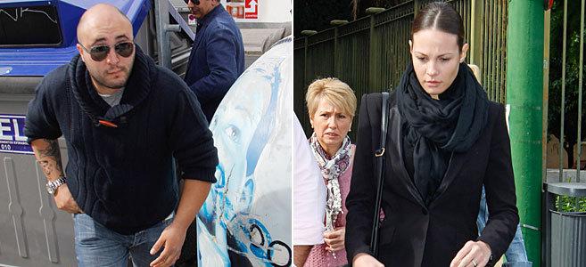 Kiko Rivera y Jessica Bueno, este lunes a su llegada a los tribunales.
