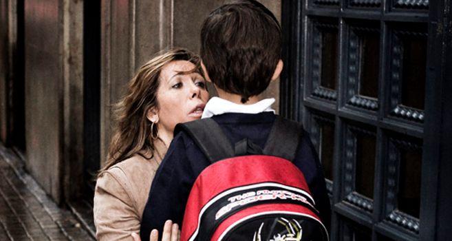Alicia Sánchez Camacho con su hijo Manuel en Barcelona, en una foto...
