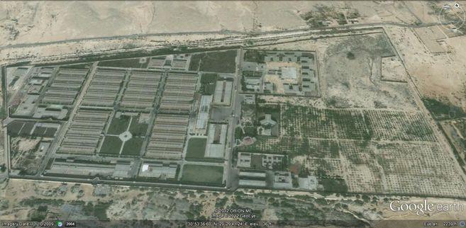 Imagen aérea del complejo de penitenciario de Borg al Arab, situado a...