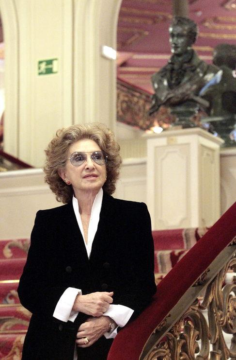 La actriz  argentina Norma Aleandro en el Teatro Arriaga de Bilbao.