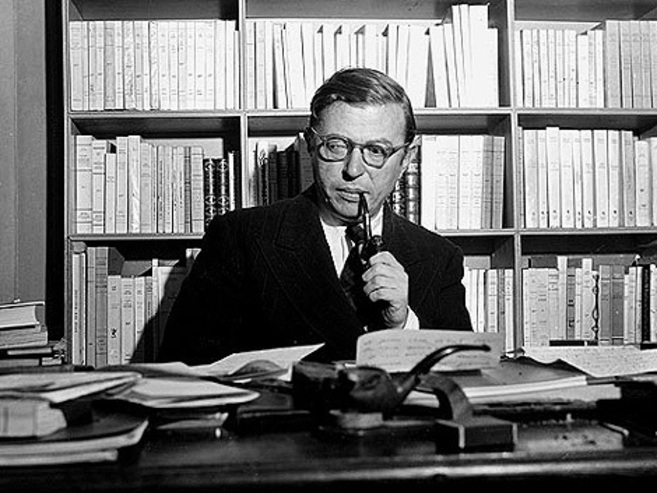 El filósofo francés Jean-Paul Sartre.