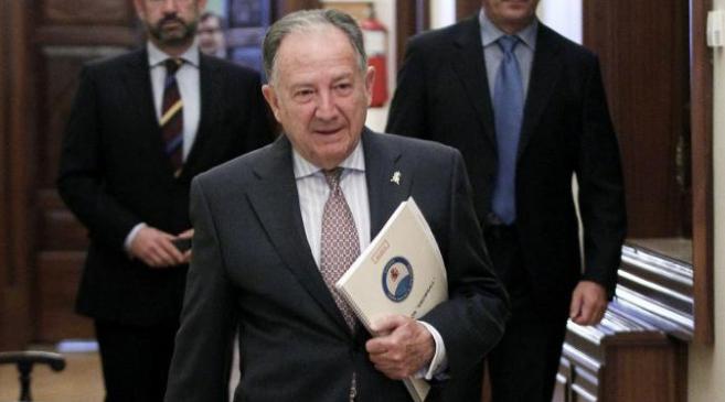 Félix Sanz Roldán, a su llegada a la Comisión de Secretos...