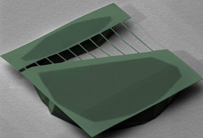 Nanoguitarra eléctrica de silicio. |