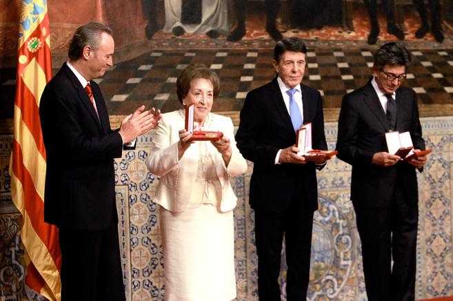 Los hermanos Colonques y la viuda de José Soriano recogieron el...
