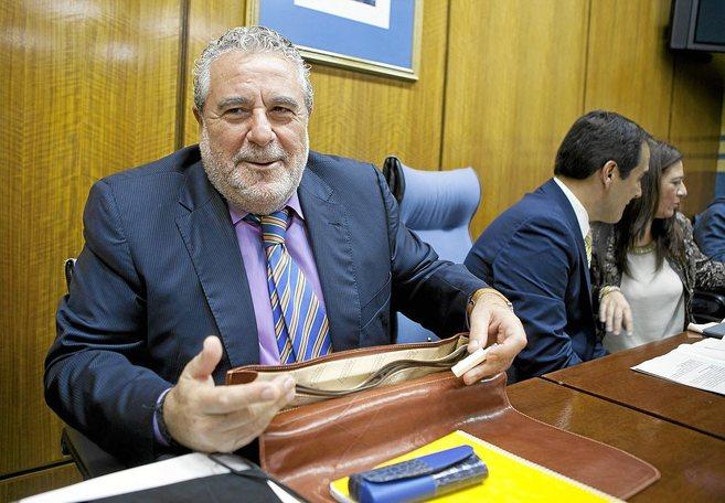 El subdirector general de Canal Sur, Joaquín Durán, en una...