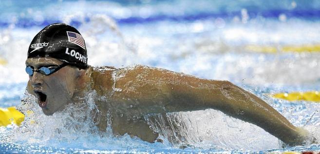 Ryan Lochte, en acción durante los pasados Juegos Olímpicos.