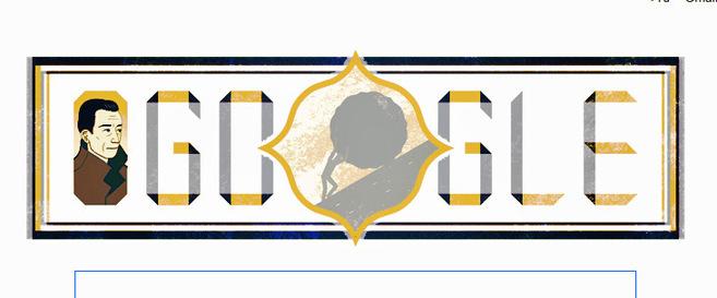 Albert Camus en el doodle de Google
