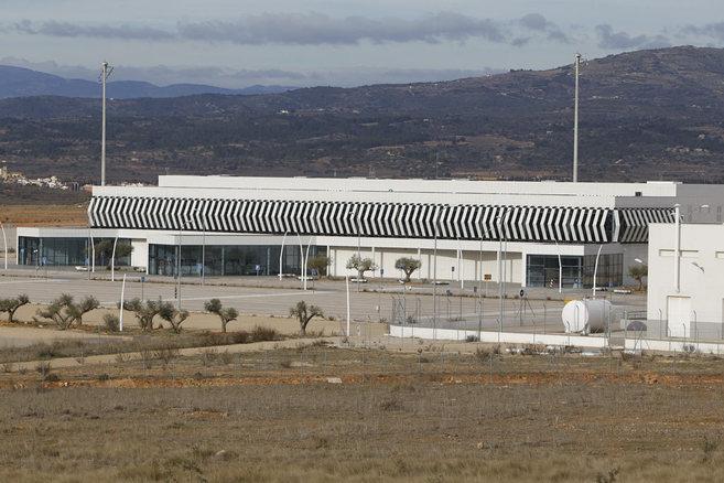 Instalaciones del aeropuerto de Castellón, en Vilanova...