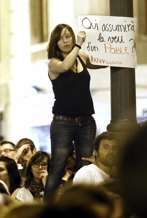 Concentración en Valencia en protesta por el cierre de RTVV.