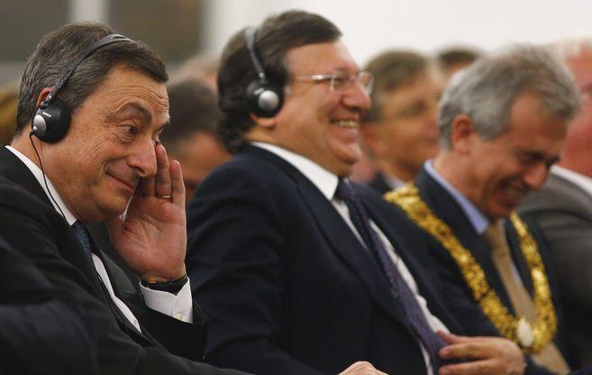 El presidente del organismo monetario, Mario Draghi, en un acto...
