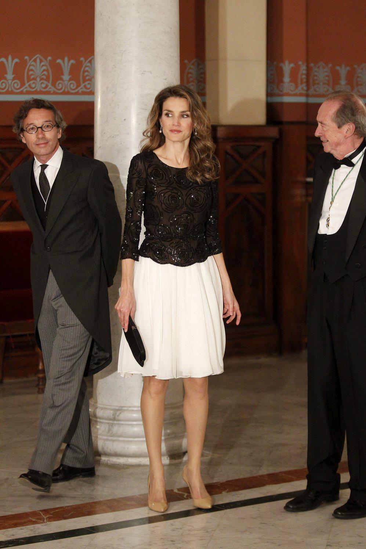 Letizia, con el Secretario de Estado de Cultura y con el presidente de...