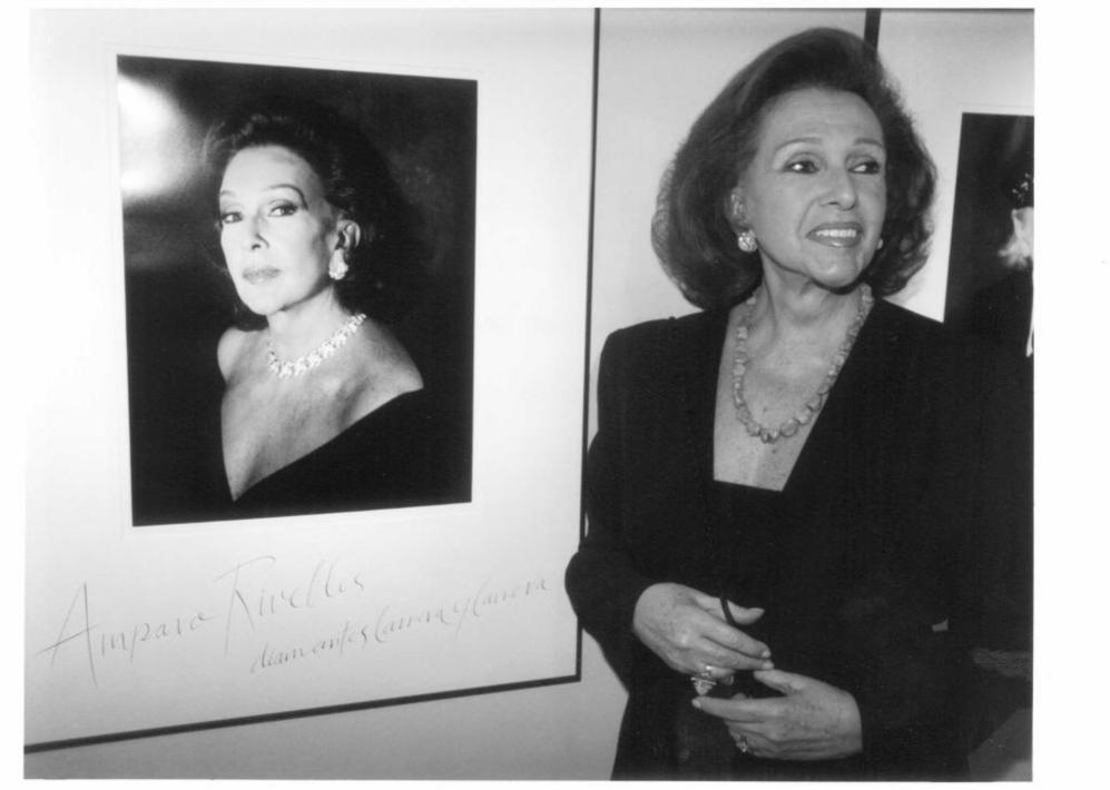 En una exposición en el Círculo de Bellas Artes.