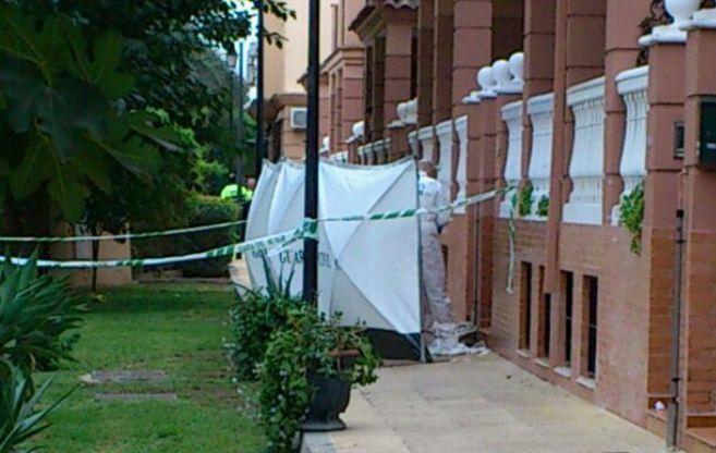 El lugar del suceso, señalado por la Policía.