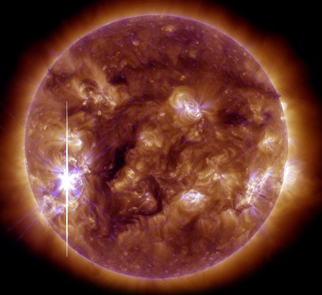 La erupción solar del pasado 5 de noviembre. |