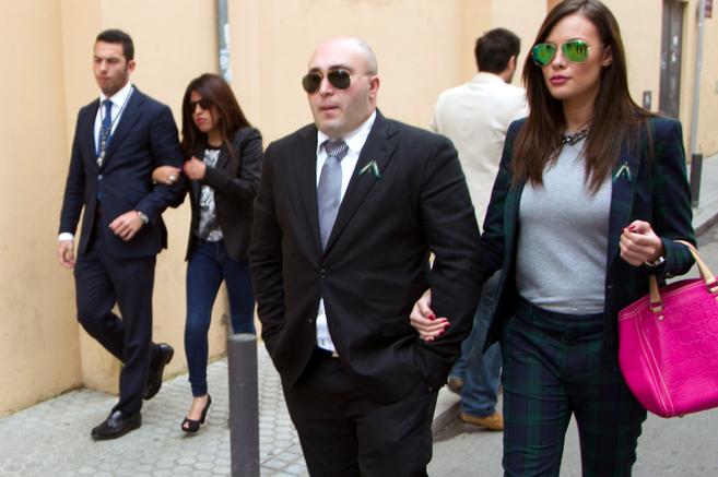 Chabelita y su novio (a la izquierda), a compañados de Kiko y Jessica...