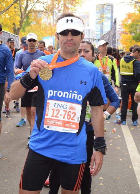 Iván de la Rosa en el maratón de Nueva York