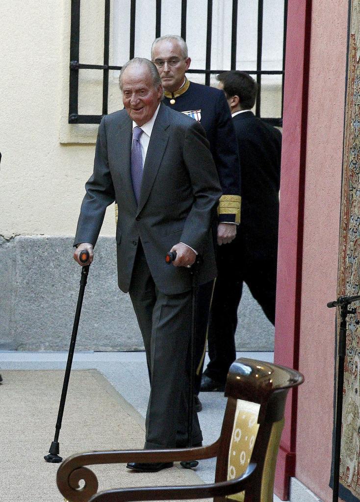 El Rey Juan Carlos, el pasado miércoles en una recepción oficial.