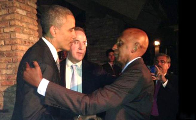 Obama, con Guillermo Fariñas