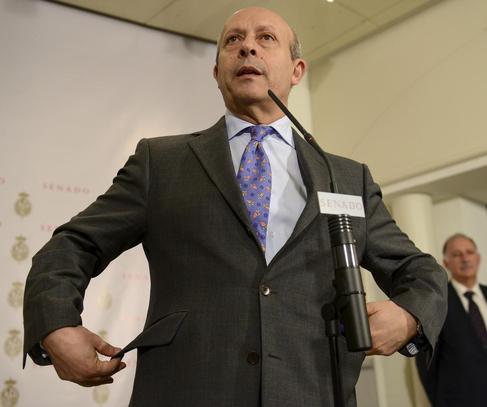 El ministro de Eduucación, José Ignacio Wert, el pasado martes en el...