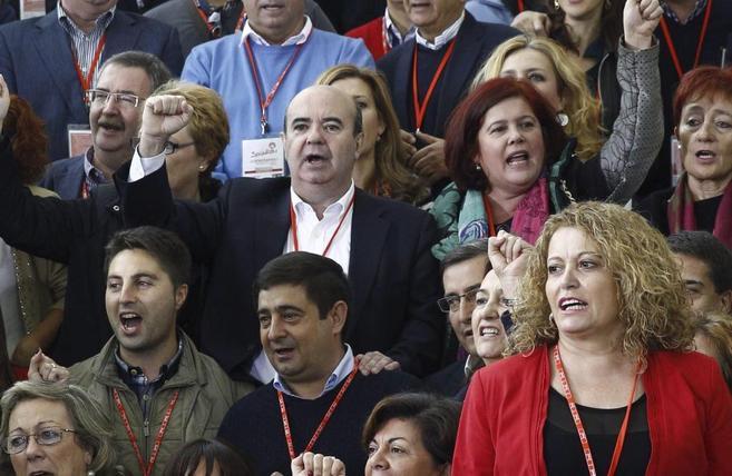 El secretario de Política Municipal del PSOE, Gaspar Zarrías, en el...