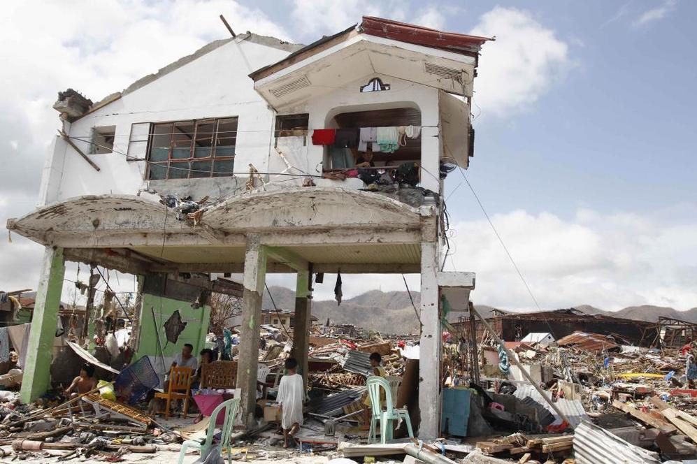 Casa destruida en Tacloban.
